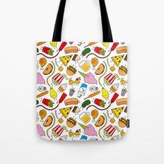 Junk food doodle Tote Bag