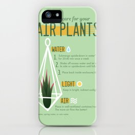 Air Plants Infographic iPhone Case