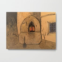 Traditional Moroccan Oven Metal Print