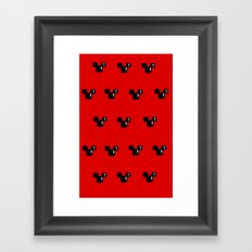 8 Bit Mouse Pattern Framed Art Print