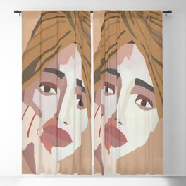 MAJE // Woman with Headwrap Blackout Curtain