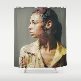 FACE FLORAL Shower Curtain