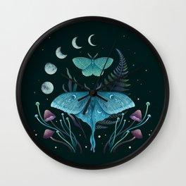 Luna and Emerald Wall Clock