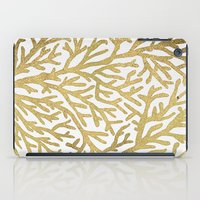 coral iPad Cases featuring Gold Coral by Cat Coquillette