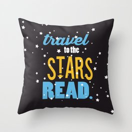 Stars - Just Read Throw Pillow