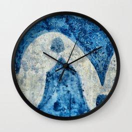 Abstract Italian blue pattern Wall Clock