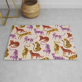 Tiger Collection – Pink & Yellow Palette Rug
