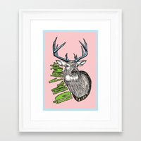 lawyer Framed Art Prints featuring I'd like a lawyer by Monkey Chow