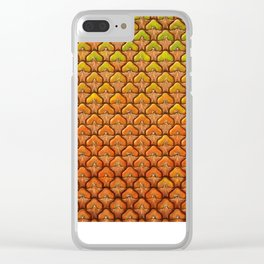 Pineapple Mania Texture Clear iPhone Case