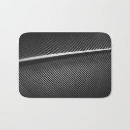 Elegant silver pigeon feather texture Bath Mat
