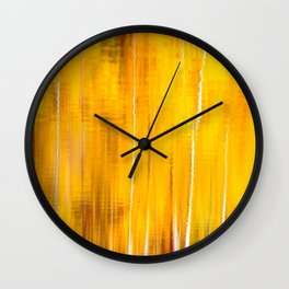 Autumn colors reflecting on the lake surface #decor #buyart #society6 Wall Clock