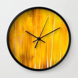Autumn colors reflecting on the lake surface #decor #society6 #buyart Wall Clock