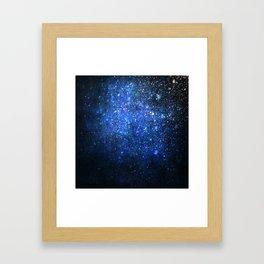 Twinkling blizzard Framed Art Print