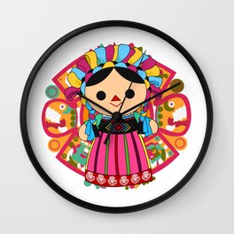 Maria 3 (Mexican Doll) Wall Clock