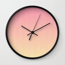 Gradient pink Wall Clock