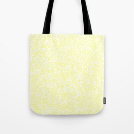 Tiny Spots - White and Pastel Yellow Tote Bag