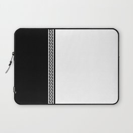 Greek Key 2 - White and Black Laptop Sleeve