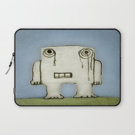 Sad Monster Baby Crying Laptop Sleeve