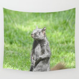Squirrely Intentions Wall Tapestry