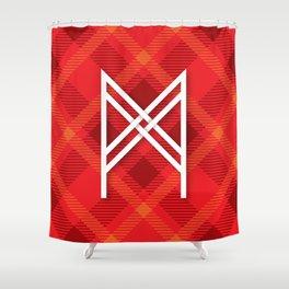 Letter M Initial Cap Shower Curtain