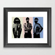 Work Color Framed Art Print