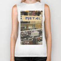 metal Biker Tanks featuring Metal by Bingz