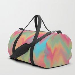Abstract Colorful Gradient Rainbow Pattern Design Beautiful Modern Popular Trending Waves Elegant Duffle Bag
