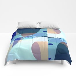 Abstract Fractal Art - Quistere- Cubism- Picasso Art Comforters
