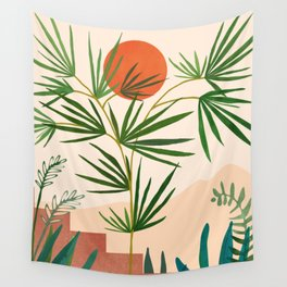 Weekend in Mojave / Desert Landscape Wall Tapestry