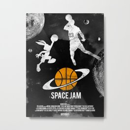 Redone Space Jam Movie Poster  Metal Print