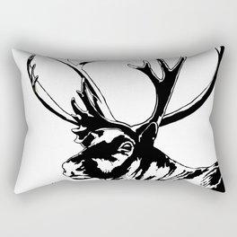 Art print: The reindeer named Caribou Rectangular Pillow