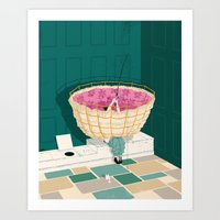 marc johns Art Prints featuring Johns Hopkins Privy by mark smith