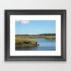 Marsh scene Framed Art Print