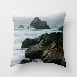 View of San Francisco Bay from Sutro Baths Throw Pillow