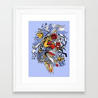 random Framed Art Prints featuring Random by waldy chavez