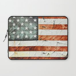 Painted Stars And Stripes Laptop Sleeve