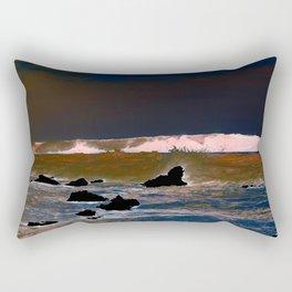 The Upside-Down State Beach Rectangular Pillow