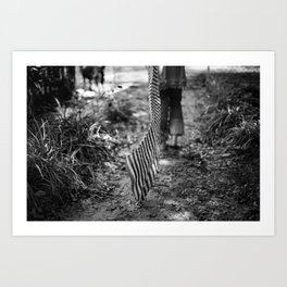 Running into absence Art Print