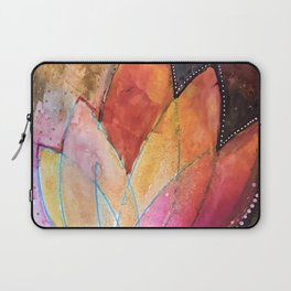 Lotus Dreaming in Colour and Dots Laptop Sleeve