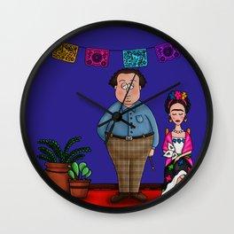Diego y Frida (The Blue House) Wall Clock