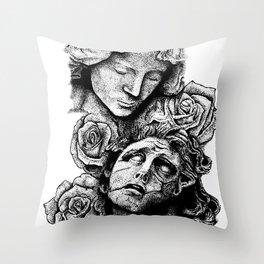 Hell vs. Paradise Throw Pillow