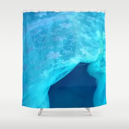 ghost in the swimming pool Shower Curtain