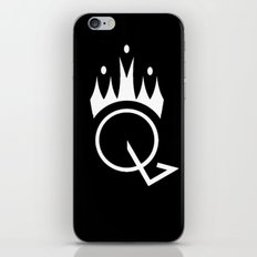 Q is for Queen (black) iPhone & iPod Skin
