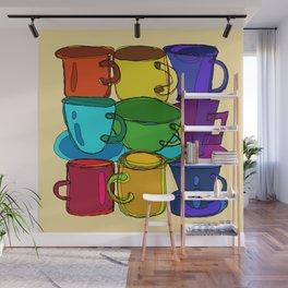 Tea Cups and Coffee Mugs Spectrum Wall Mural