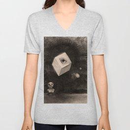 "Odilon Redon ""The Cube"" Unisex V-Neck"