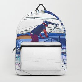 Spinning the Deck - Trick Scooter Sports Art Backpack