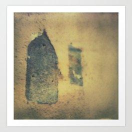 Birdhouses Ruins Art Print