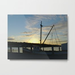 The Florence at Sunset, Mystic Seaport Metal Print