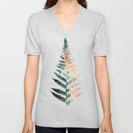 Watercolour Fern Leaf Unisex V-Neck