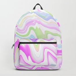 Delicate Marbled Watercolor Backpack